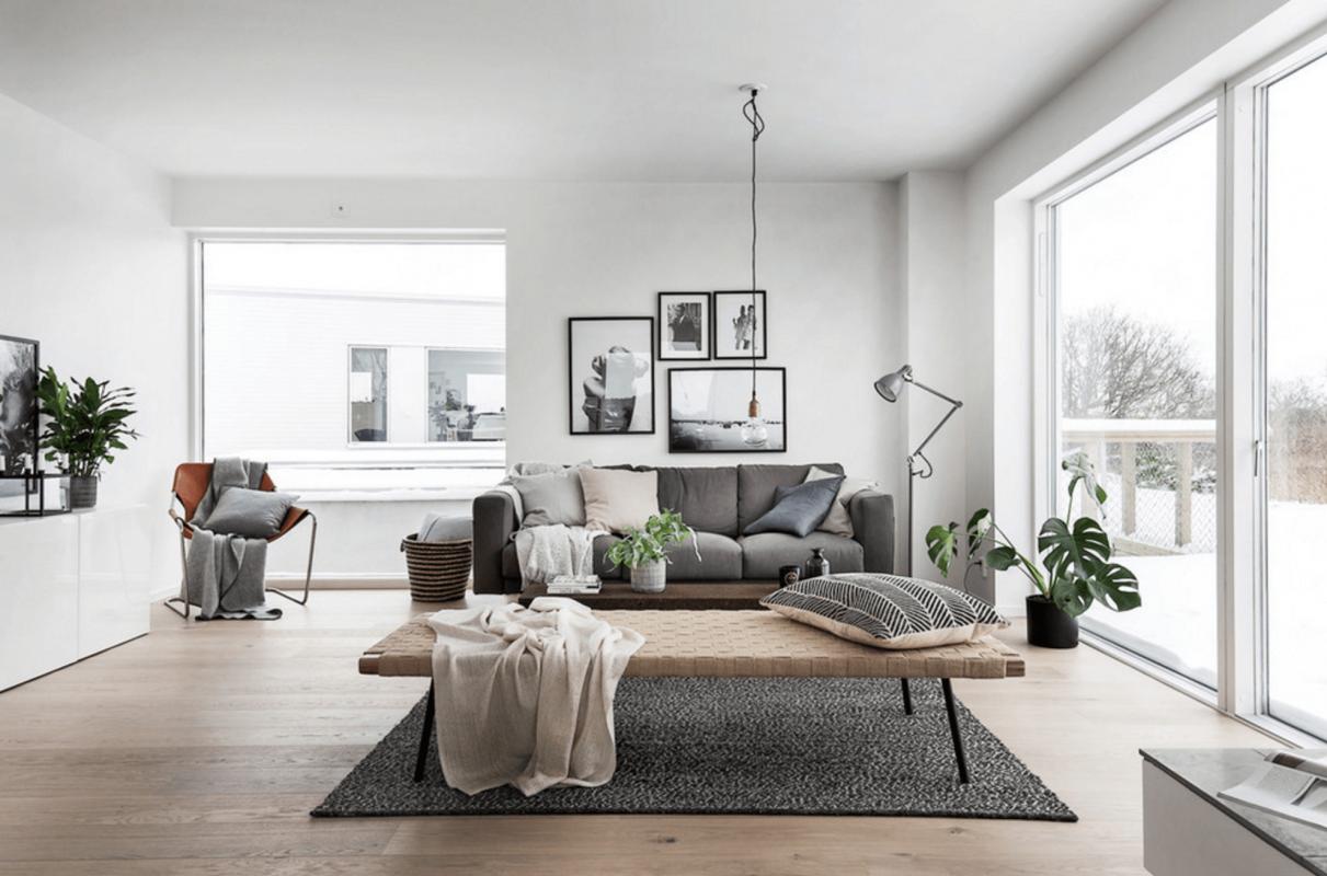 Scandinavi, nội thất phòng khách, nội thất trọn bộ phòng khách, nội thất phòng khách gỗ tự nhiên, nội thất phòng khách đẹp, thi công nội thất phòng khách